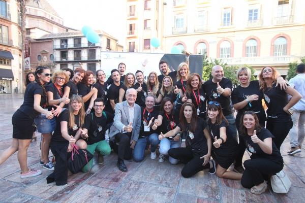 fuertes y hermosas Malaga con Alcalde D. Francisco de la Torre