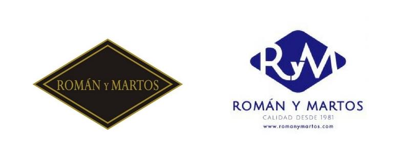 logos Román y Martos rebranding