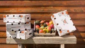 Maldon exotic fruit box packaging